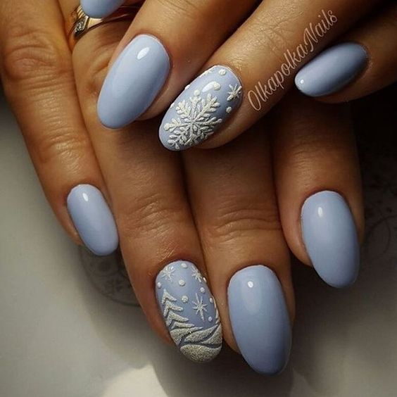 Adorable winter nails art design inspiration ideas 41 | Winter nail ...