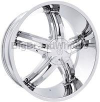 Massiv Wheels 914 Cyclone 20 inch - 20x8.5 Chrome RimsClick For Full Image