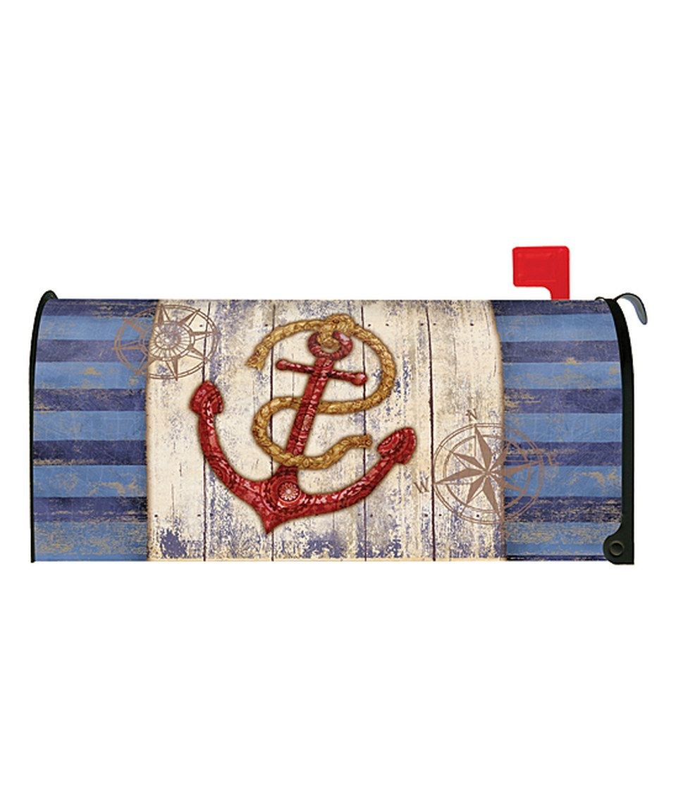 Another Great Find On Zulily Rustic Anchor Compass Mailbox Cover By Toland Home Garden Zulilyfinds Rustic Anchor Mailbox Covers Rustic