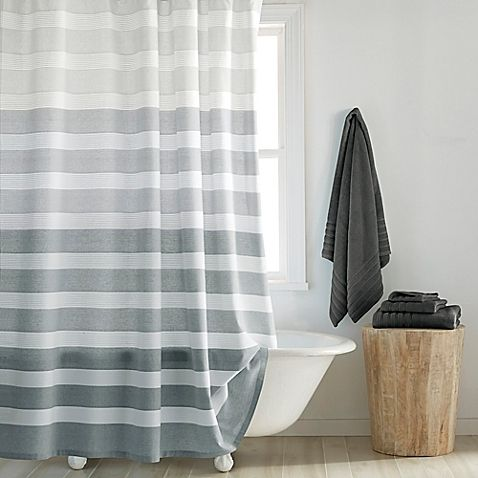 Dkny Highline Shower Curtains Shabby Chic Badezimmer Shabby