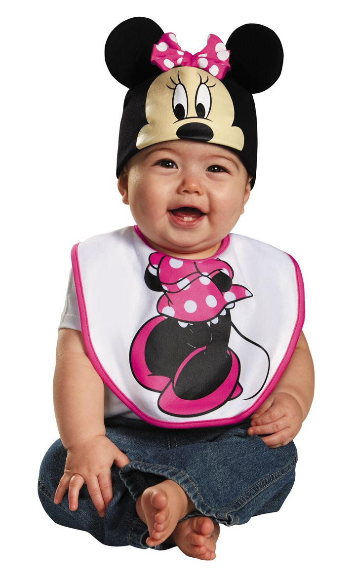 Pink Minnie Mouse Bib   Hat Costume  b270c80f6346