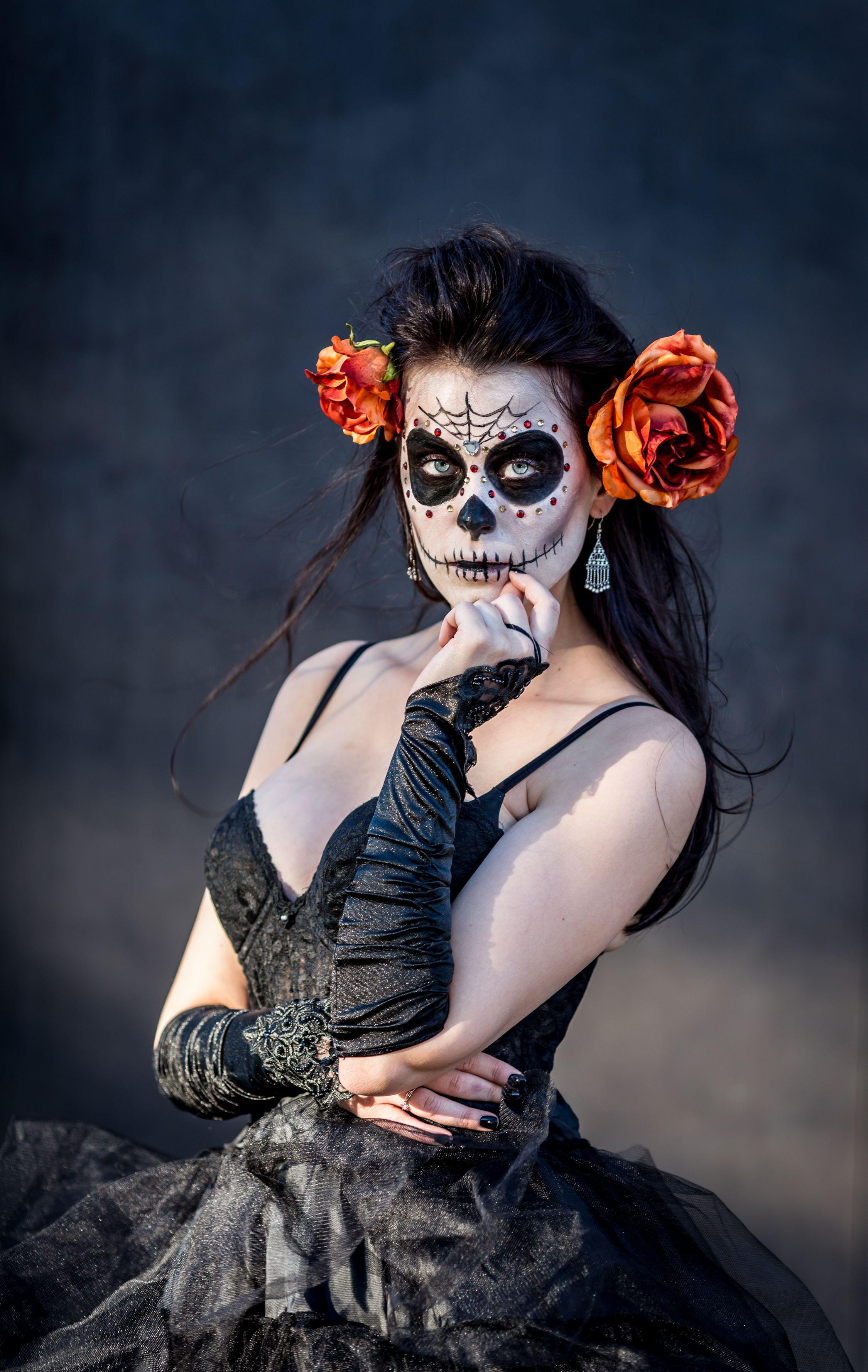 Sugar Skull Day Of The Dead Natural Light photo shoot