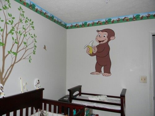 Curious George themed nursery for a baby boy. Great for son's of Alpha Phi Alpha father's.