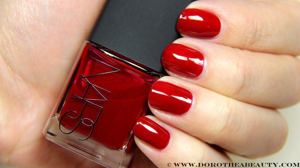 NARS Jungle Red Nail Polish (swatches) | Nail Polishes | Dorothea ...