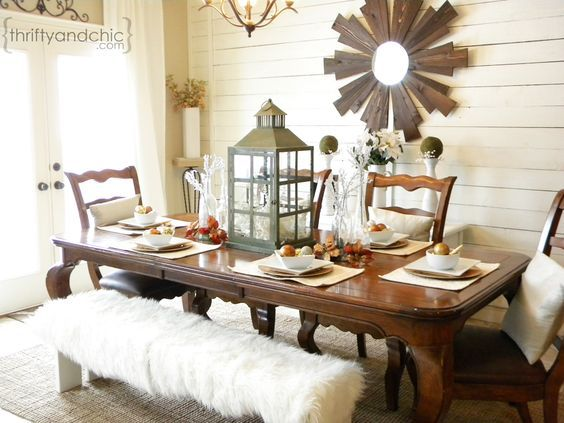 Thrifty And Chic   Holiday Table Decor And Just Love The Whole Feeling The  Room Gives