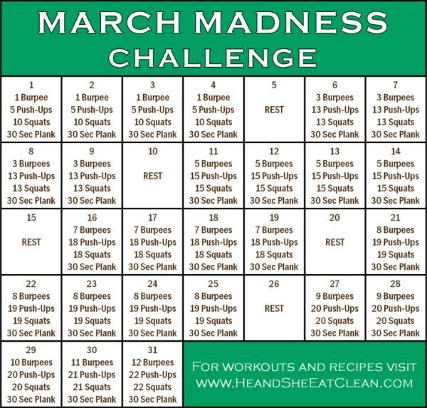 March Madness Fitness Challenge, #Challenge #Fitness #Madness #March