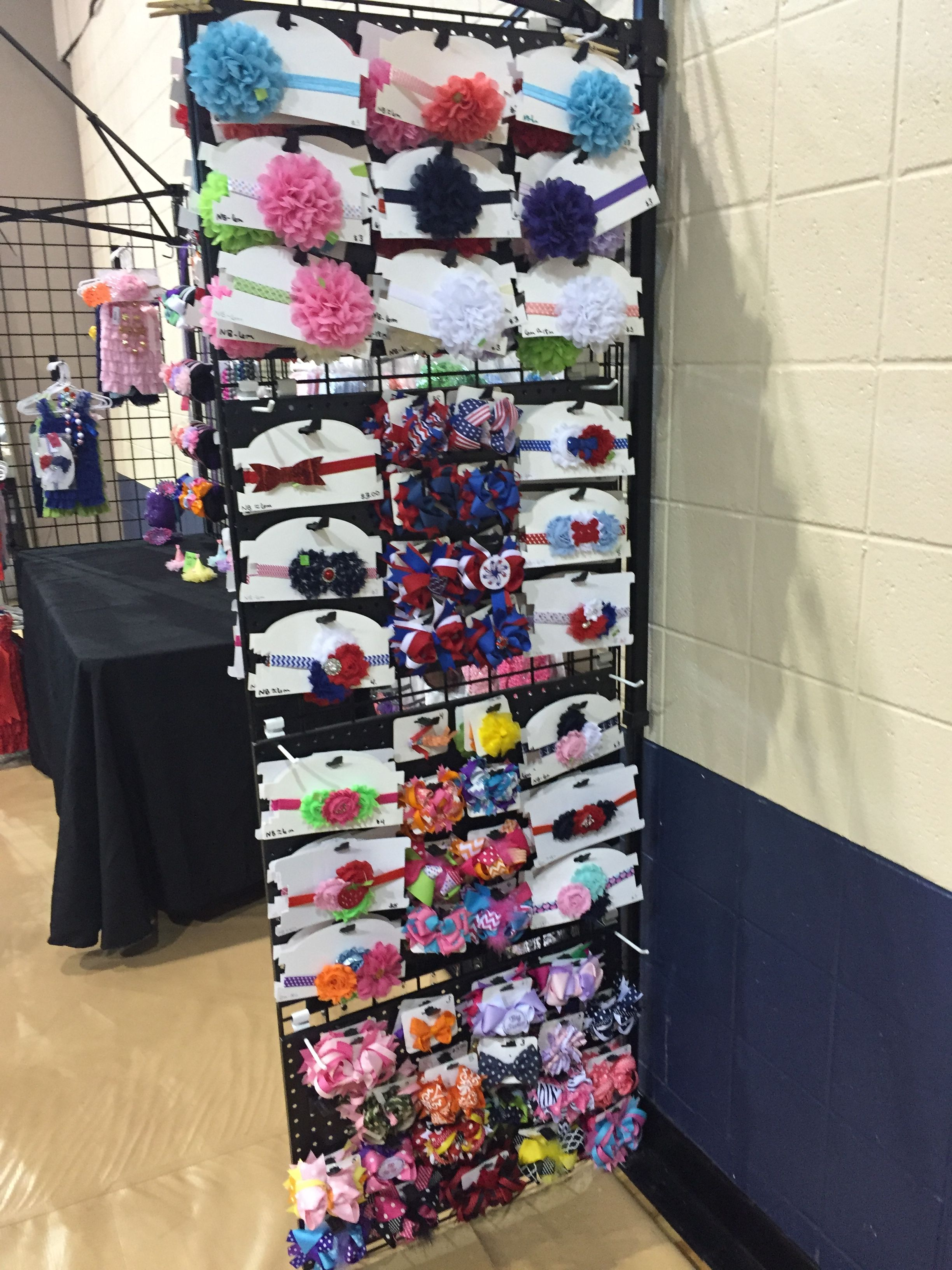 Vendor craft fair booth set up display #bowtifulblessings