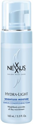 Nexxus Hydra-Light Weightless Moisture Leave-In Conditioning Foam.  Tames fly aways, moisturizers, glycerin based.
