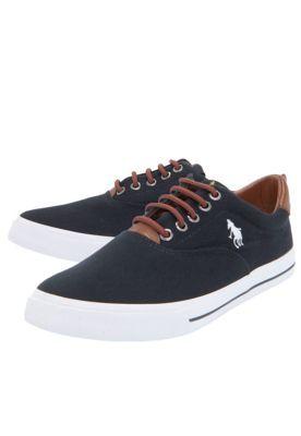 online store b7748 e430e Sapatênis Polo HPC Linha Preto Sapatilha Masculina, Tenis Preto Masculino,  Sapatos De Homem,