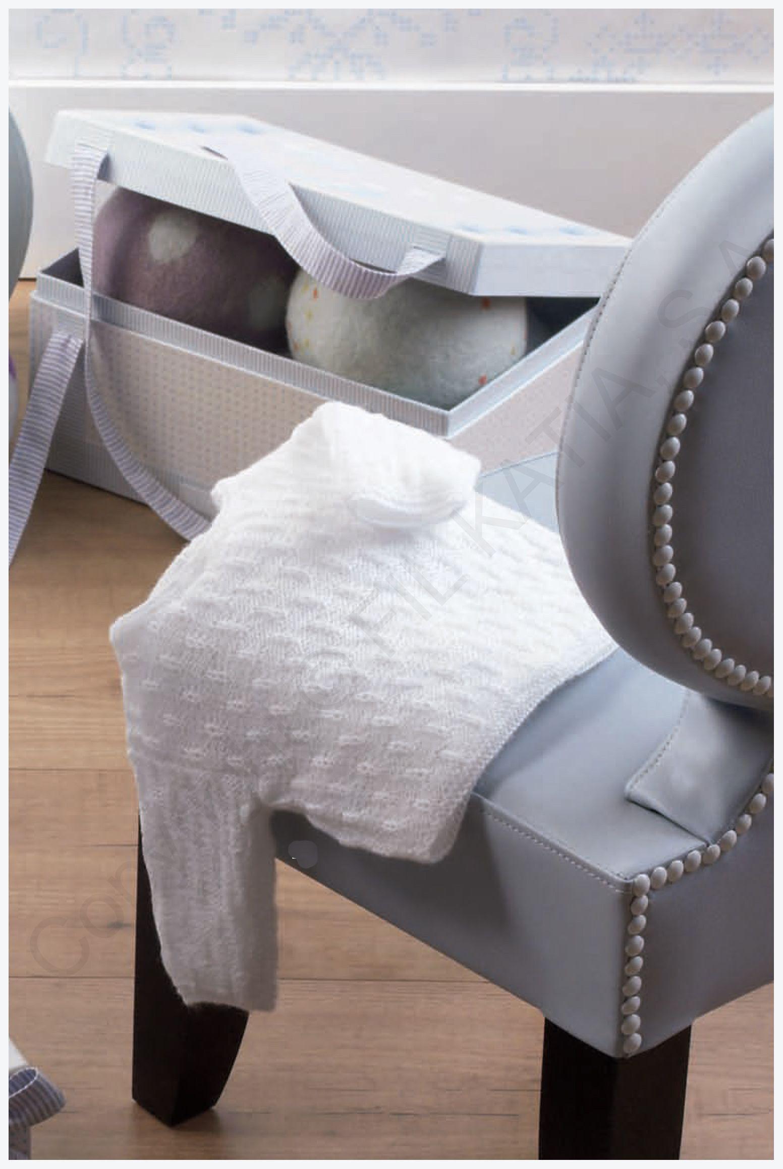 patrón jersey recién nacido de lanas katia | Punto Bebe | Pinterest ...