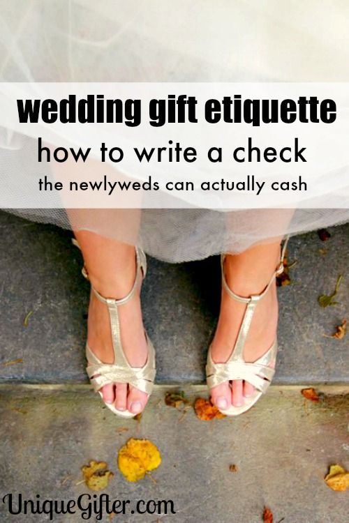 Wedding Etiquette: How to write a wedding check gift so that they can ...
