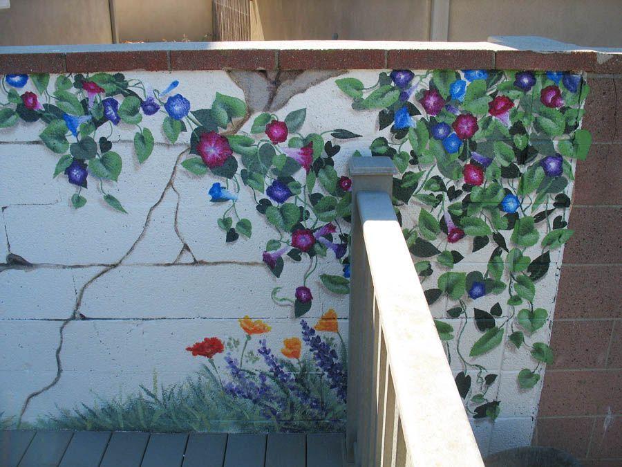 Findamuralist Garden Mural Garden Wall Outdoor Wall Art