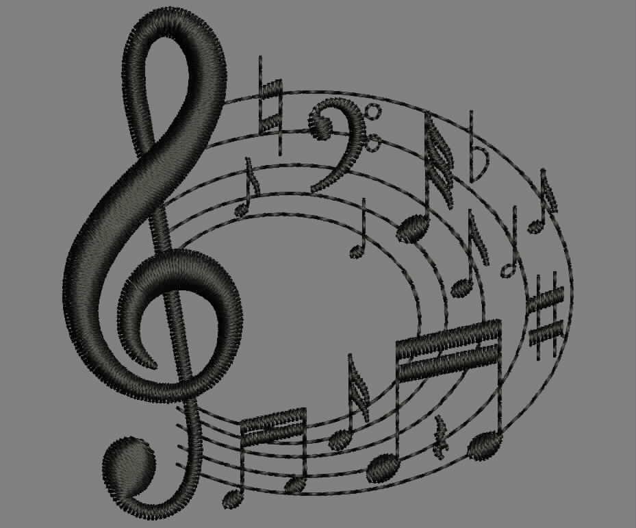 Musica Programa De Bordado Matriz De Bordados Gratis Matriz