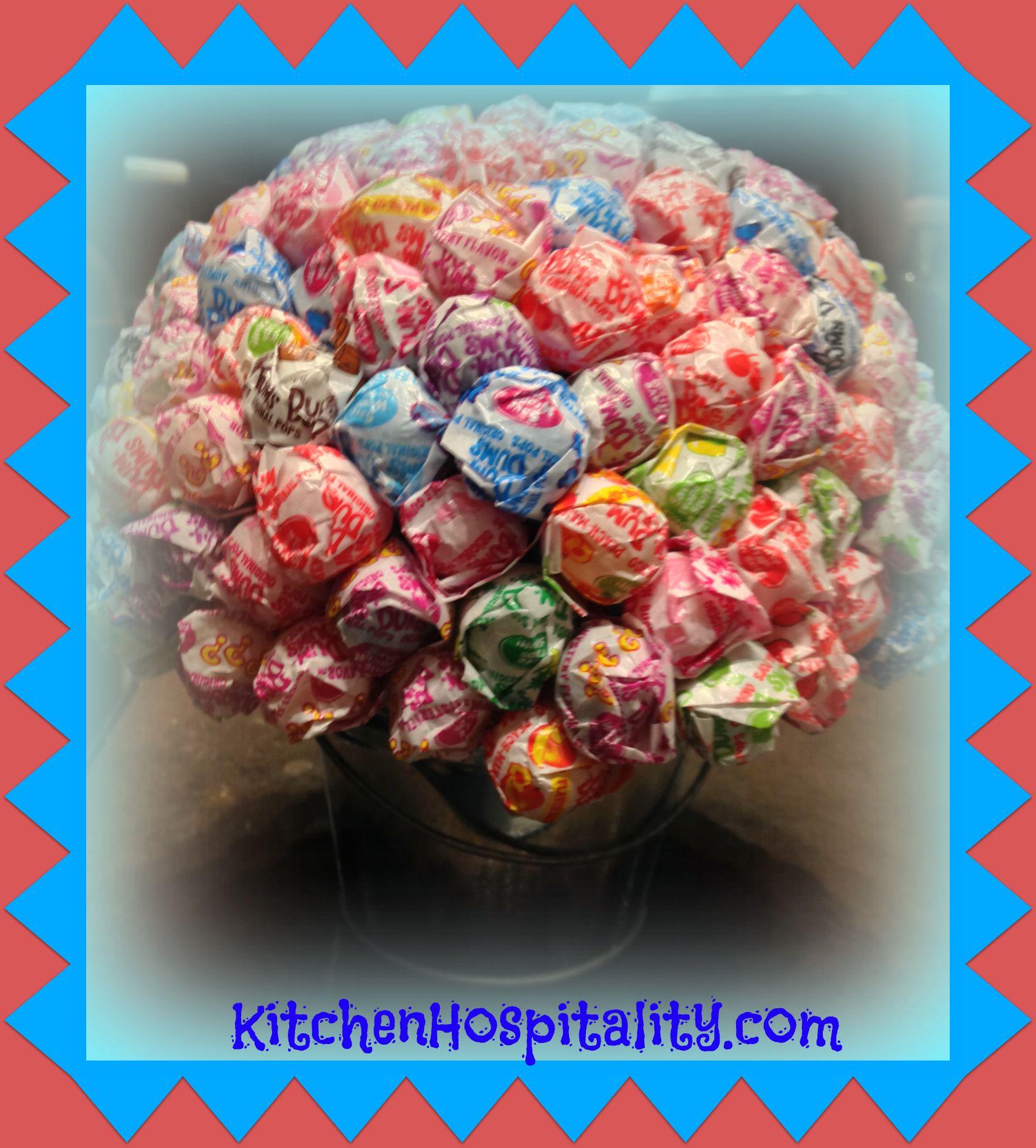 Candy Sucker Bouquet for Halloween
