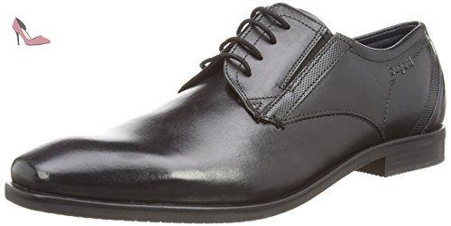 T74081, Chaussures à lacets homme - Noir (Schwarz 100), 40 EUBugatti