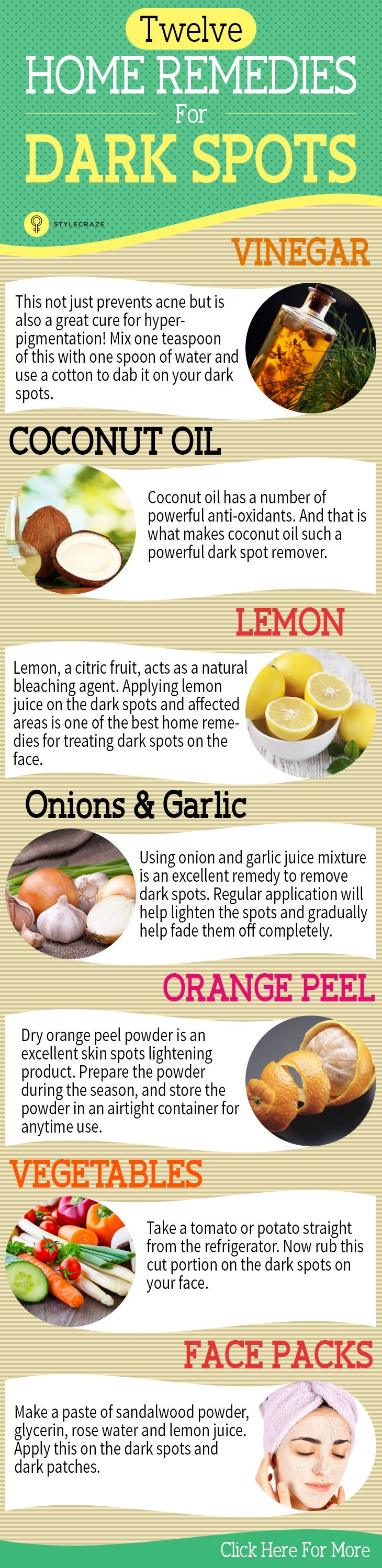 6 Home Remedies To Remove Dark Spots On The Face | Skin Care