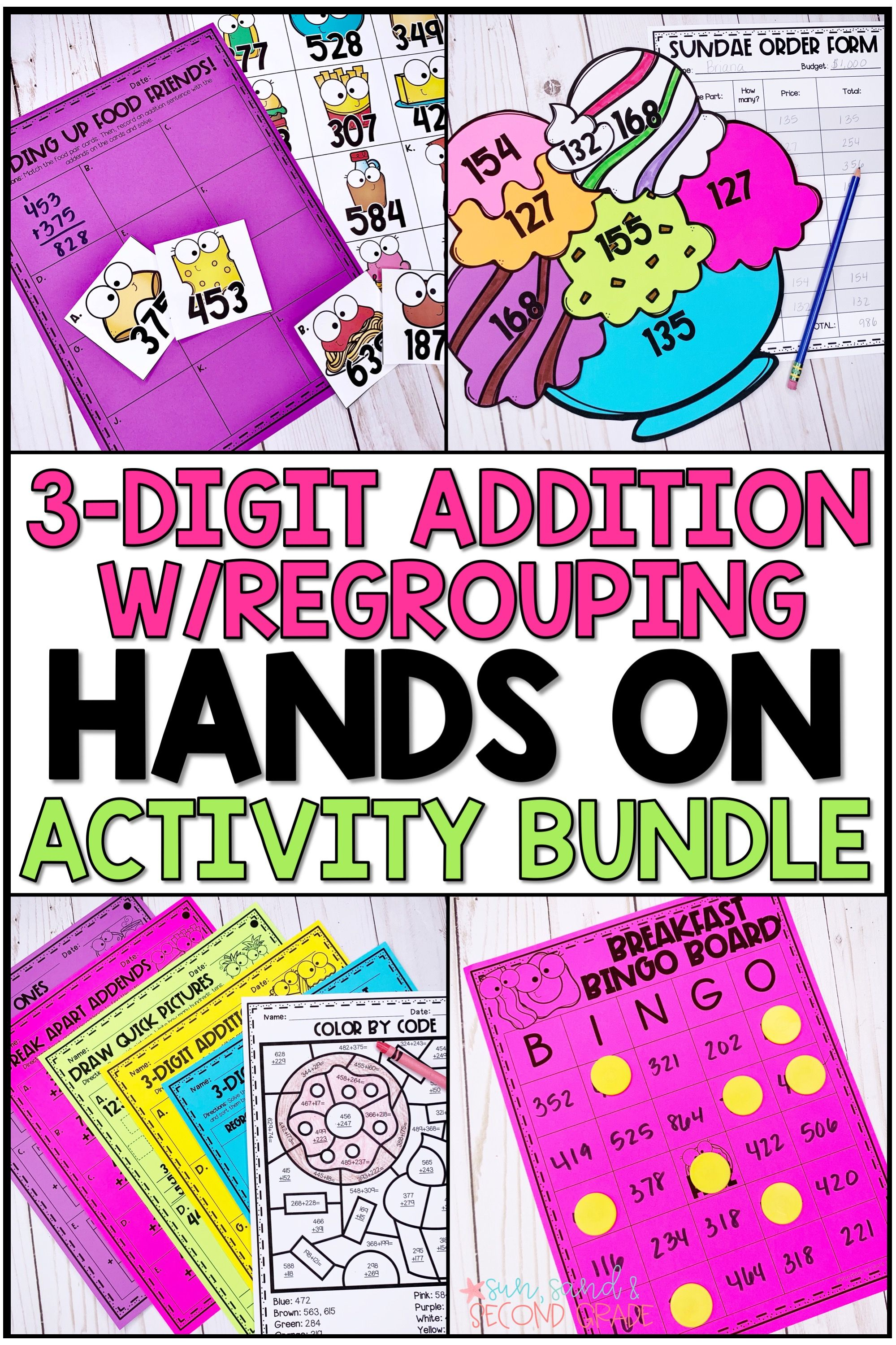 Triple Digit Addition With Regrouping Activities Amp Hands