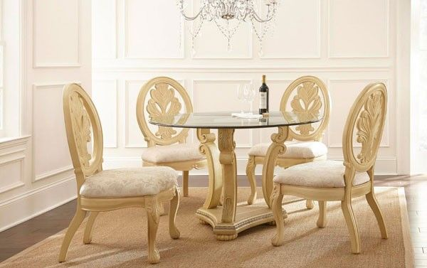 Myco Furniture  Emily 5 Piece Round Dining Room Set  5984Tbmed Awesome Quality Dining Room Tables 2018