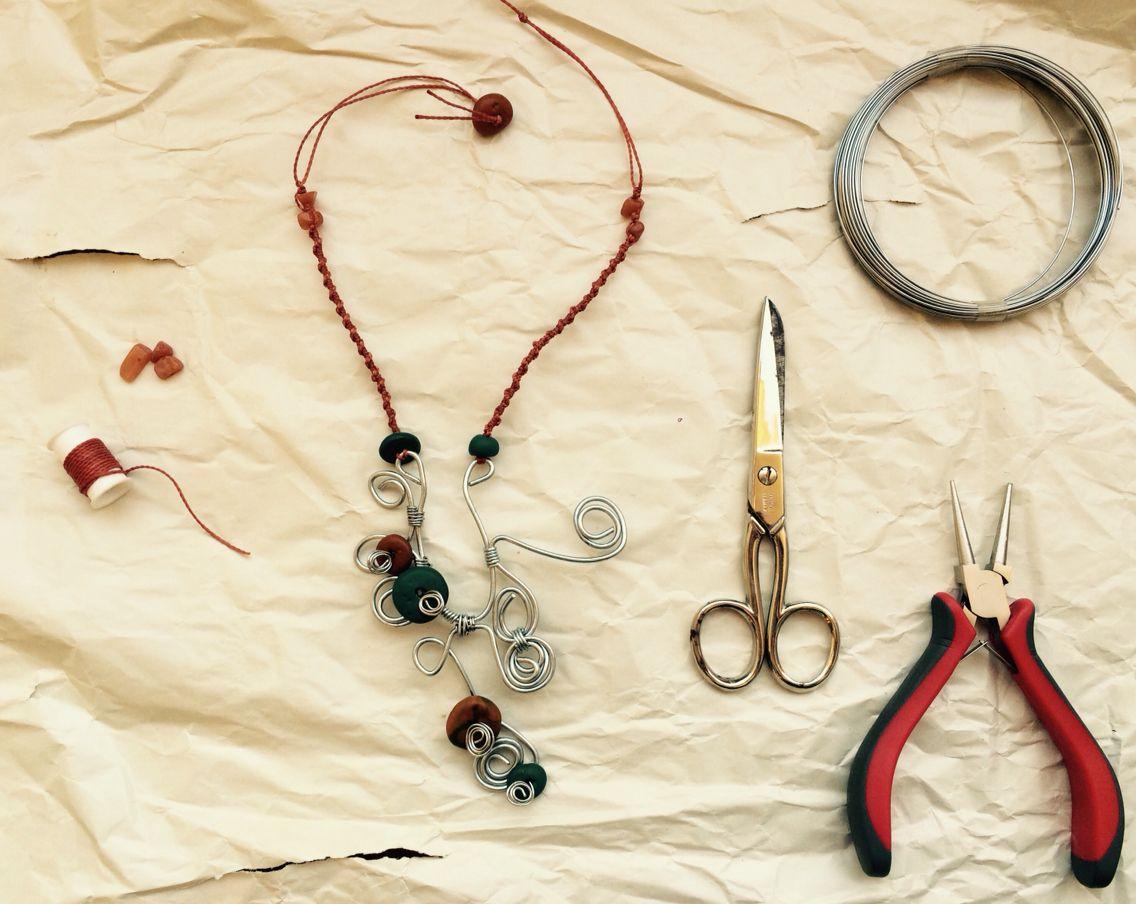 Collana#macramè#fimo#handmade