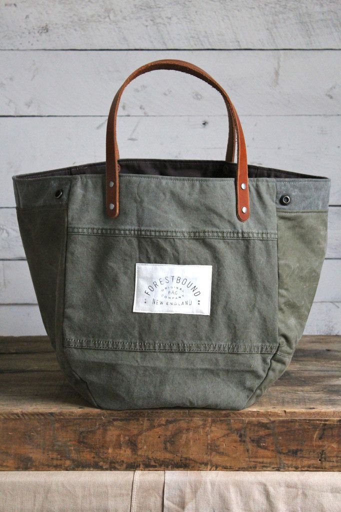 Forestbound   WWII era Convertible Canvas Tote Bag