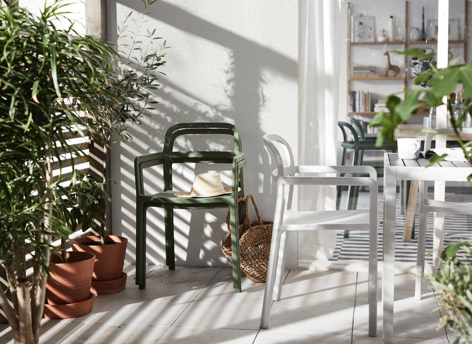 Ypperlig Chair With Armrests In Outdoor Light Grey Ikea Switzerland Outdoor Chairs Ikea Ypperlig Ikea And Hay