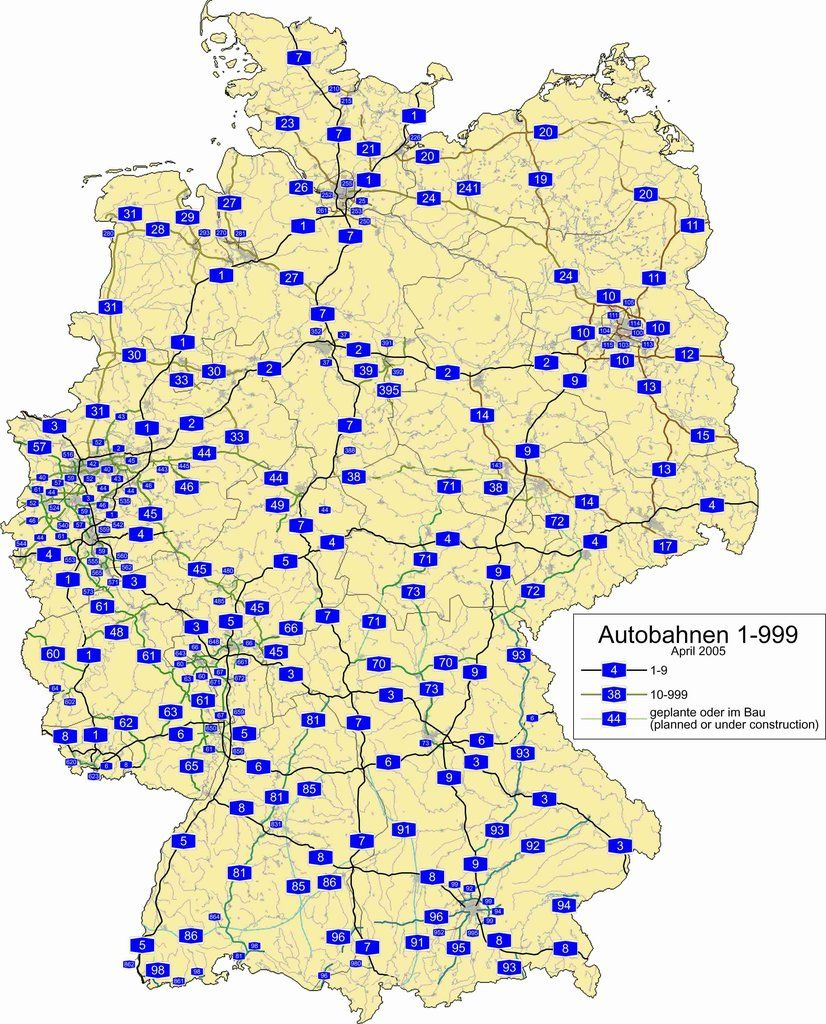 German Autobahn map [2444*3030] | Maps | Pinterest | Germany, Map
