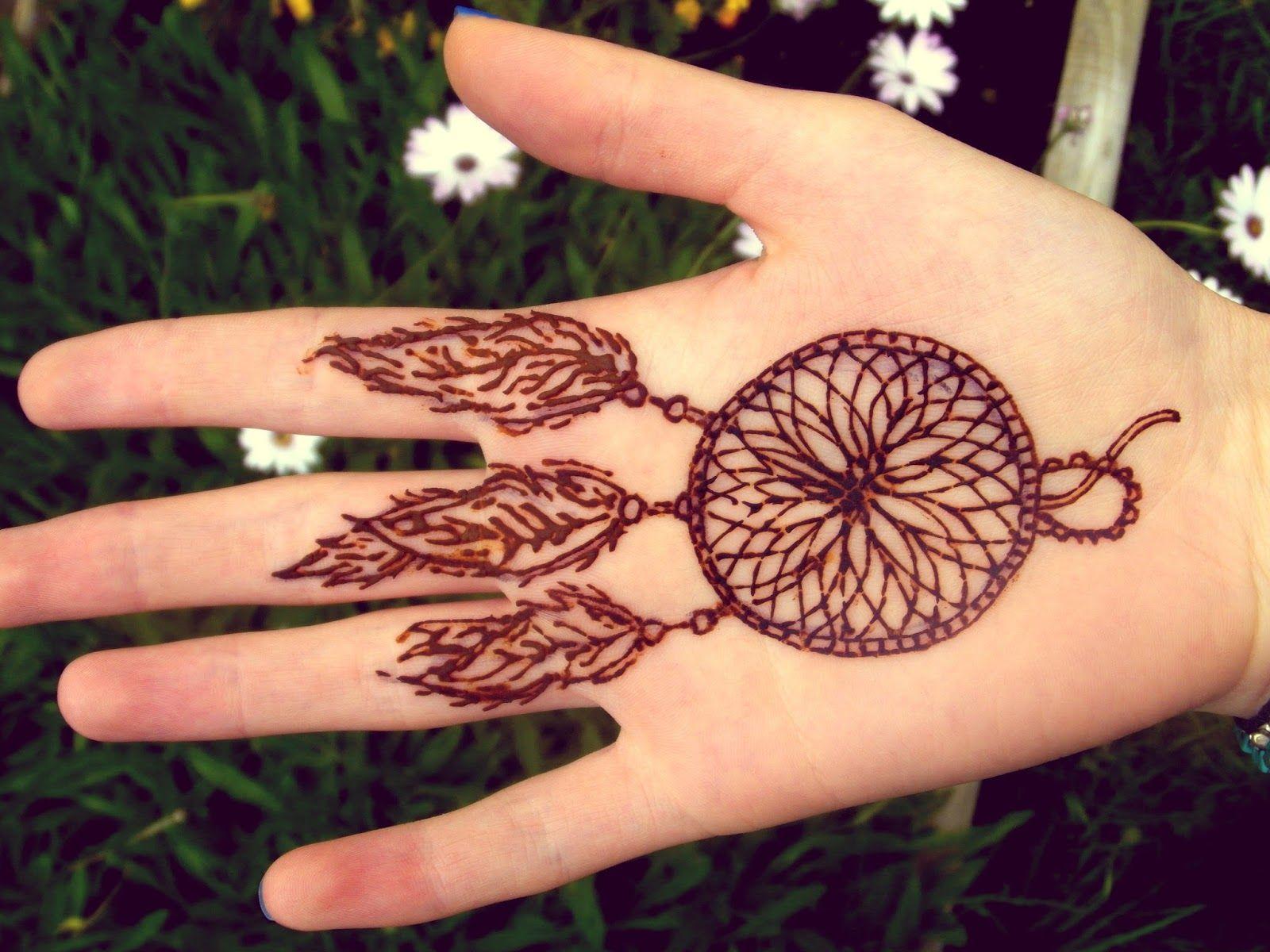 Dream Catcher Henna Tattoo Designs: Henna-dream-catcher-tattoo-design-on-wrist-4.JPG (1600