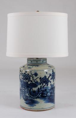 B/W Tea Tin Jar Lamp: Avala And Summerour Lamps