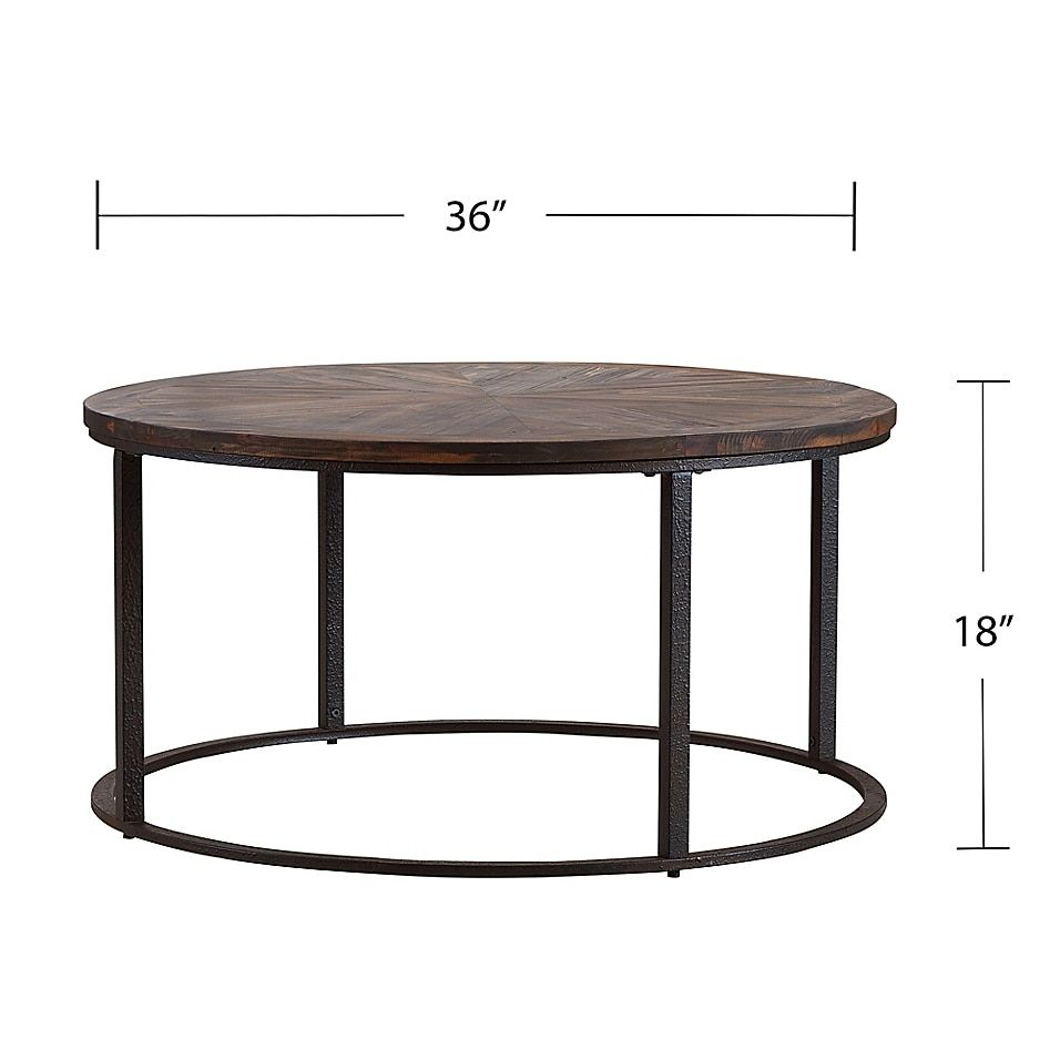 Southern Enterprises Landsmill 36 Inch Round Coffee Table In Natural Black Bed Bath Beyond In 2021 Reclaimed Wood Cocktail Table Wood Cocktail Table Coffee Table [ 956 x 956 Pixel ]