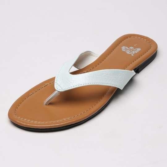 b77eca444 White Flat Thong Sandals