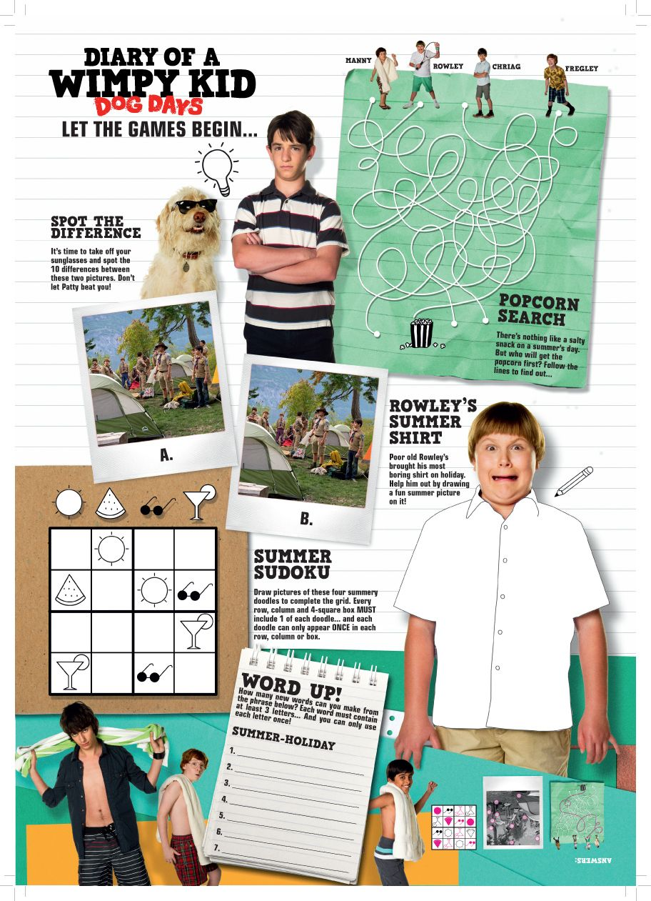 Diary Of A Wimpy Kid Trivia Questions
