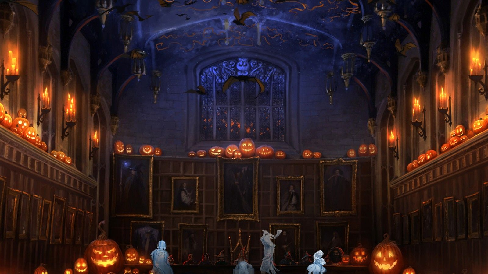 Pottermore Background Halloween In The Great Hall By Xxtayce On Deviantart In 2020 Pottermore The Hallow Harry Potter Pottermore
