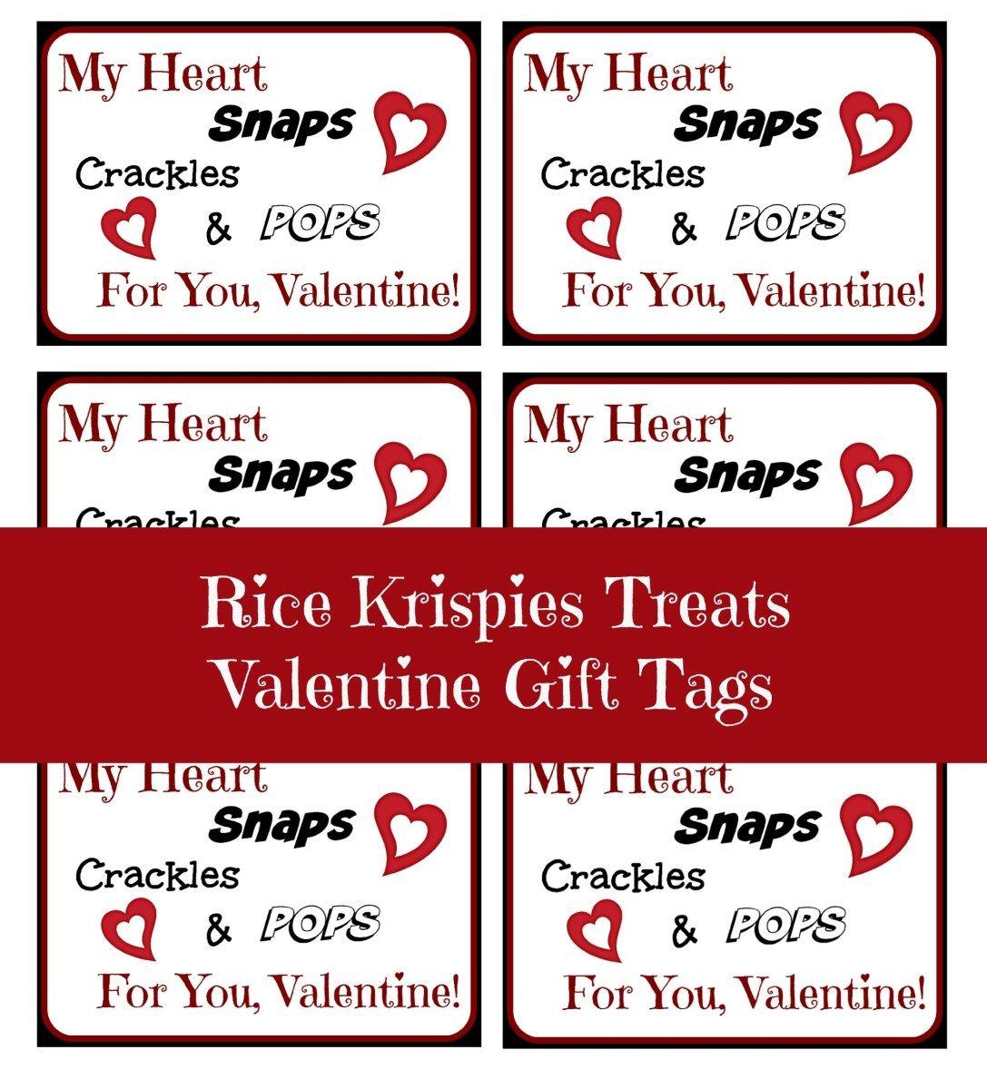 Rice Krispies Treats Valentine Gift Tags   Rice krispie ...