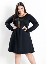 960012950 Vestido Evasê Manga Longa Marinho Plus Size | Plus Size | Fashion ...
