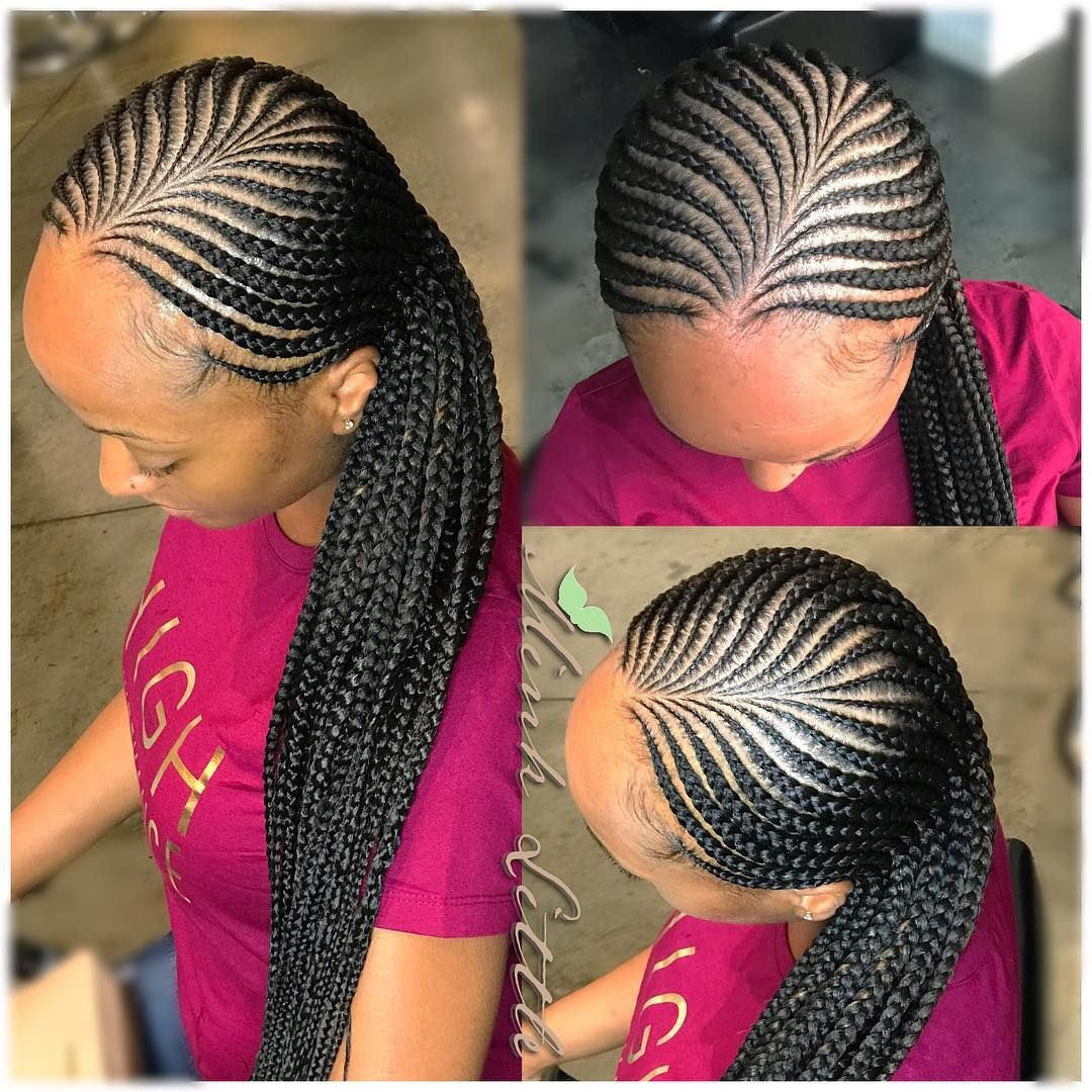 Image May Contain One Or More People And Closeup Braids For Black Hair Braided Hairstyles Updo Braided Hairstyles For Black Women Cornrows