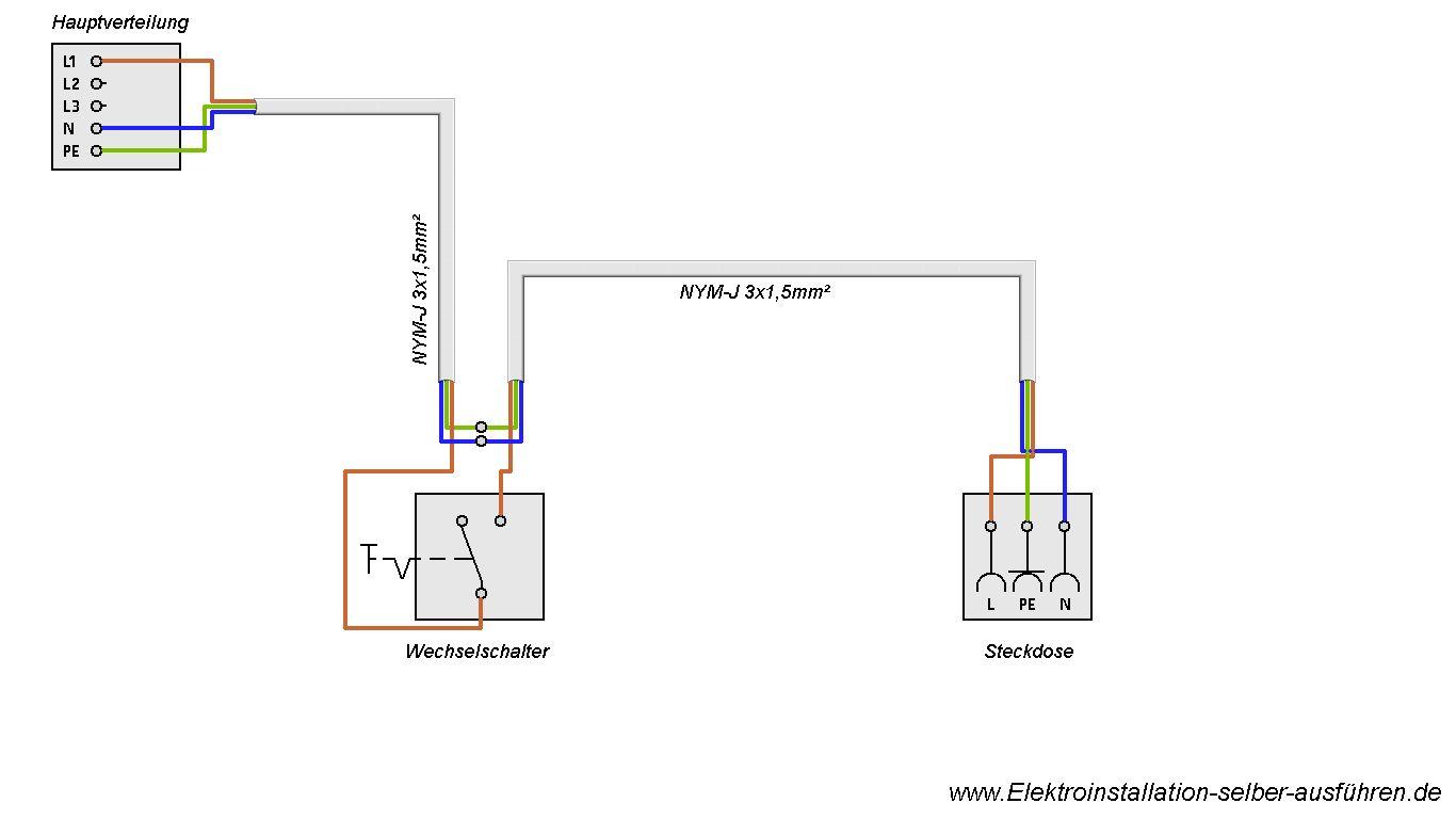 Schaltplan Einer 230v Steckdose Schaltbare Au Ensteckdose