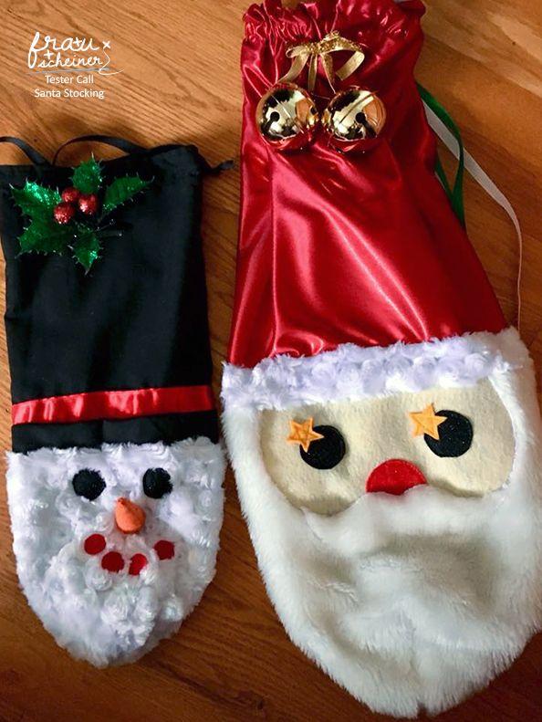Santa Sack, Gnome und süße Schneemänner nähen | Pinterest ...