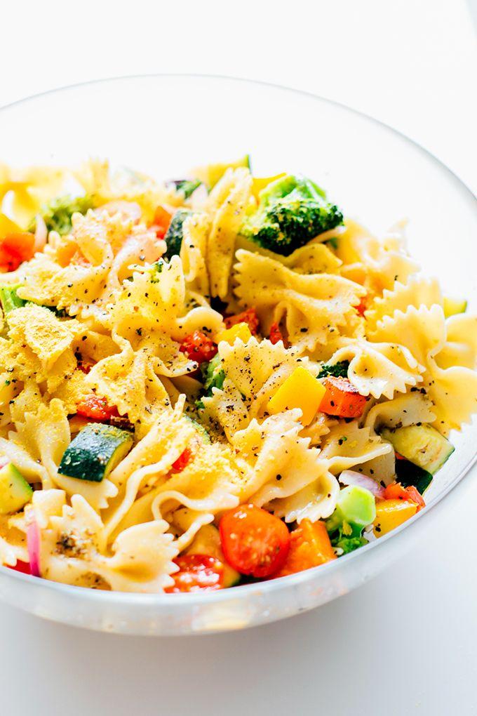 Trippy Vegan Rainbow Pasta Salad