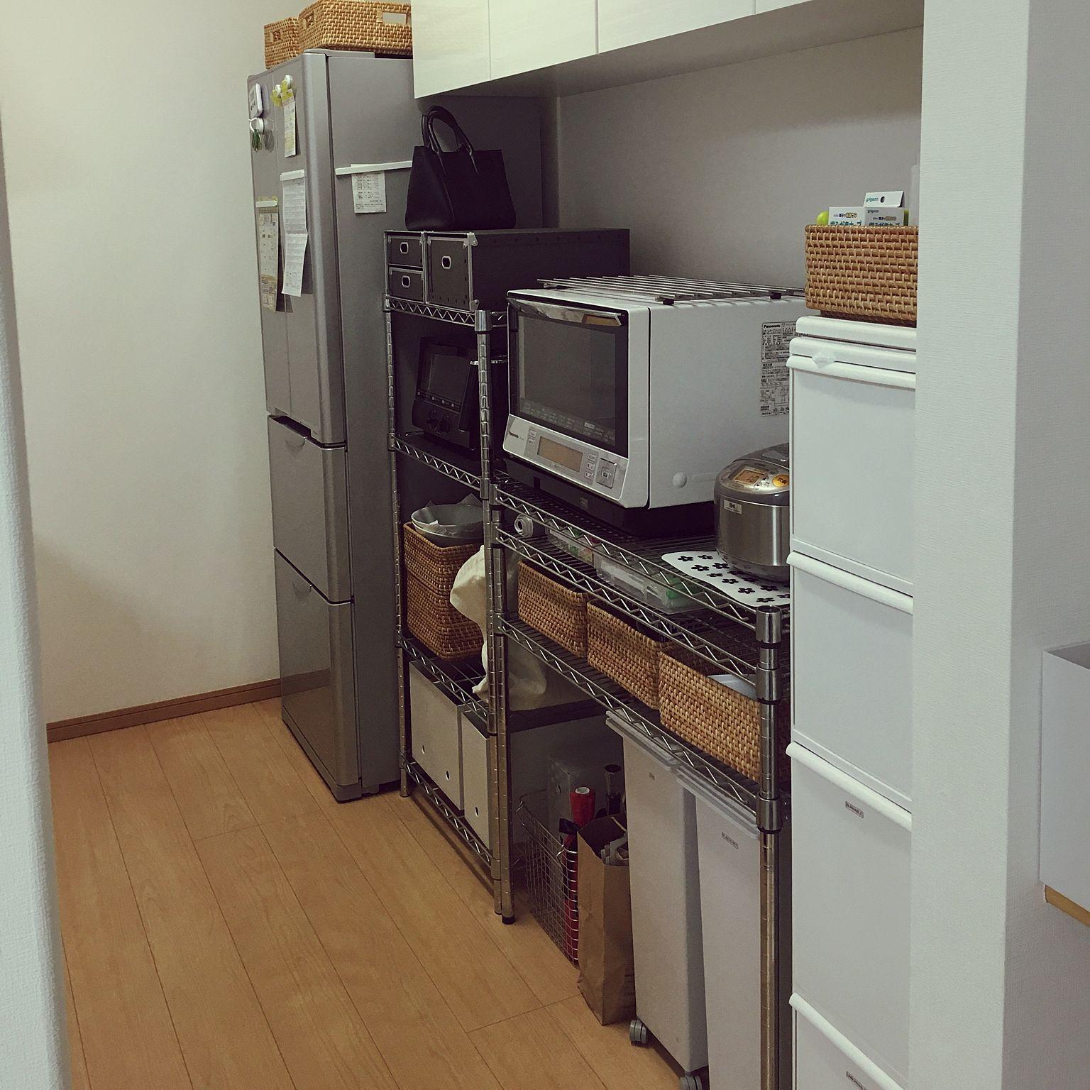 kitchen/無印良品/建売/ラック/スチールラック/キッチン収納…などの