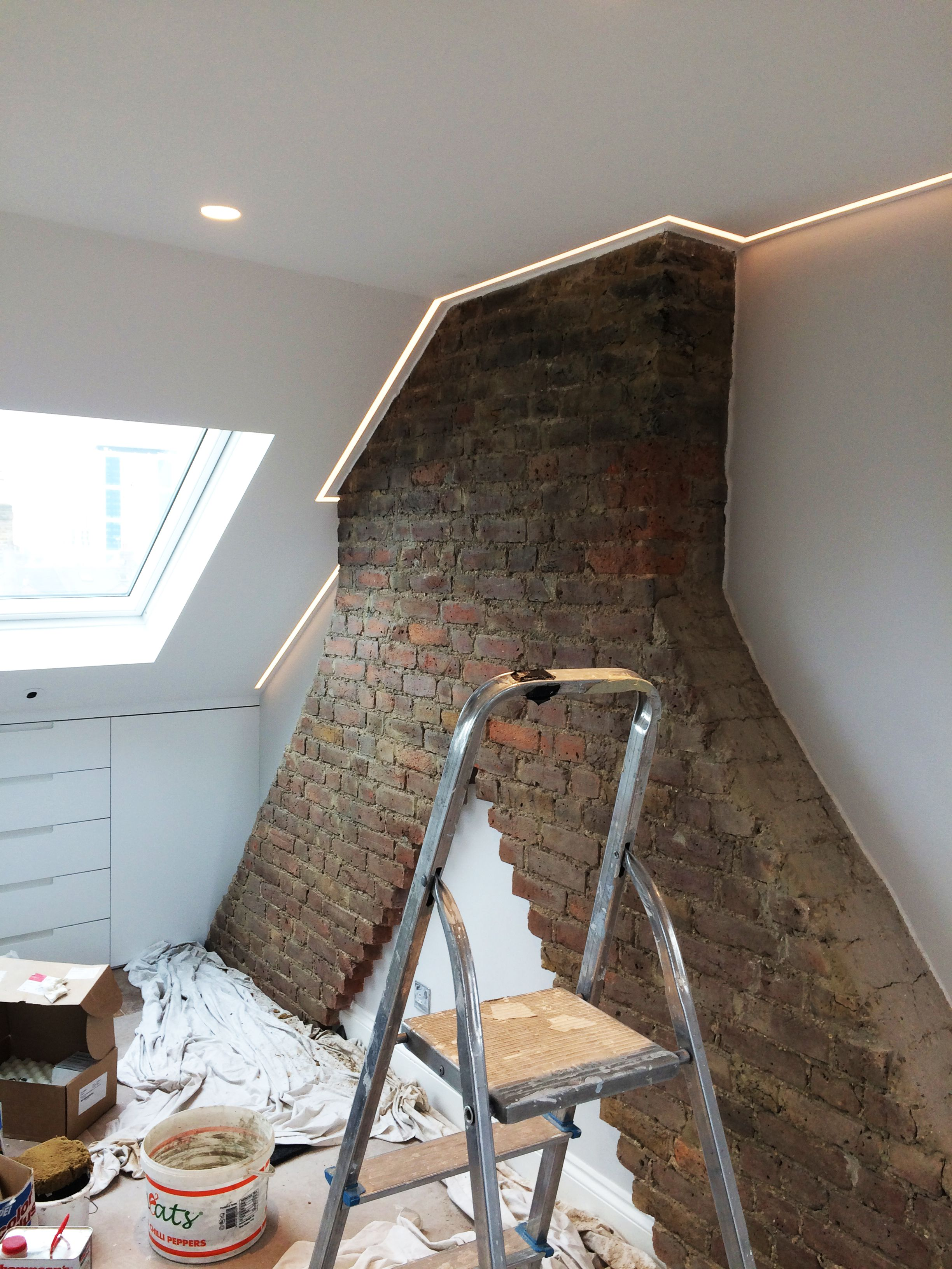 Check out this loft conversion in Wandsworth The chimney breast has