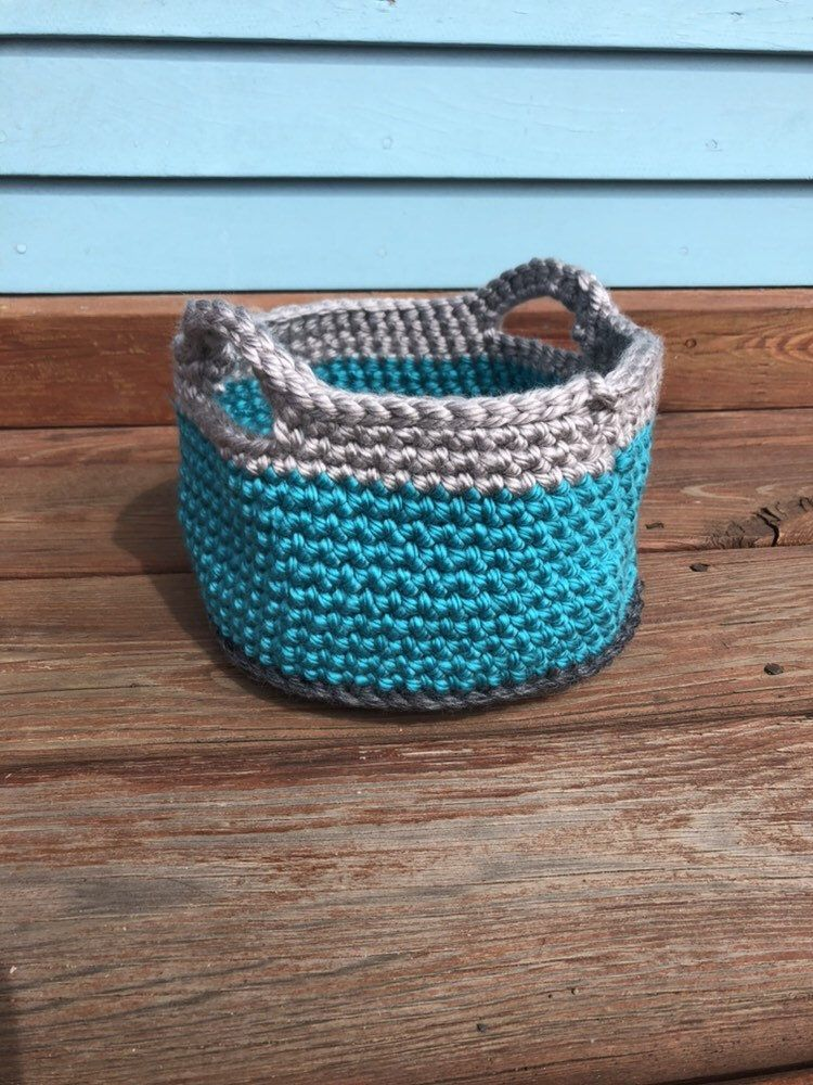 Crochet Storage Basket Pet Toy Holder Bathroom Toiletries Caddy