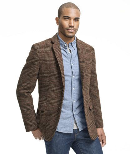 Signature Tweed Sport Coat, Plaid: Blazers | Free Shipping at L.L. ...
