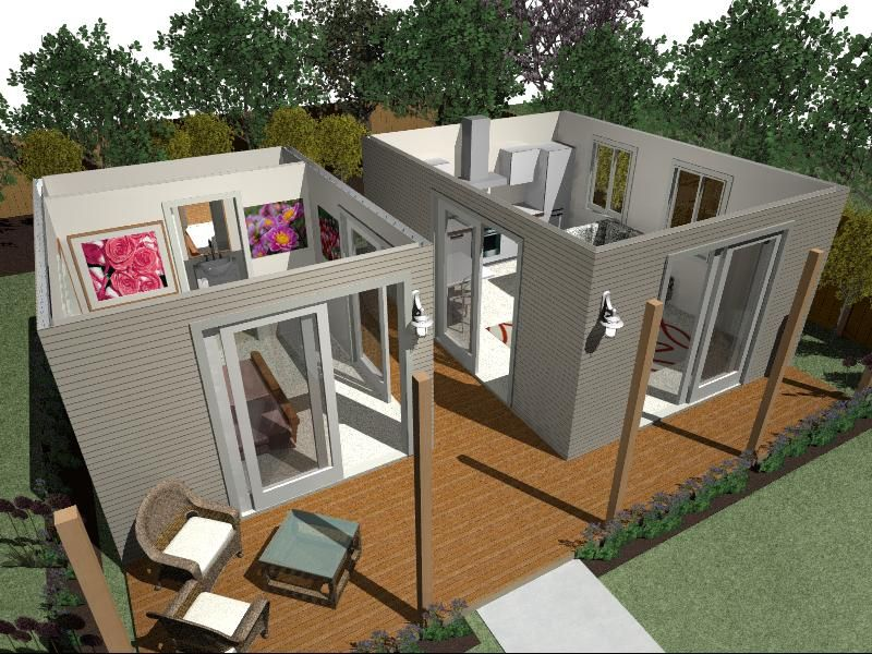 Small Box Room Cabin Bed For Grandma: This Is A Small House That Can Be Used For Granny Flat