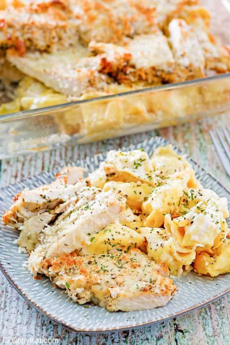 Olive Garden Asiago Tortelloni Alfredo with Chicken
