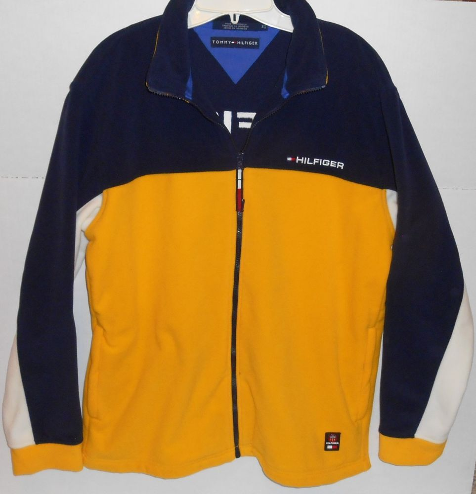Details about tommy hilfiger embroidered spellout polar fleece full