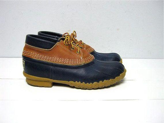 vintage waterproof duck ankle boots // by dirtybirdiesvintage, $39.00