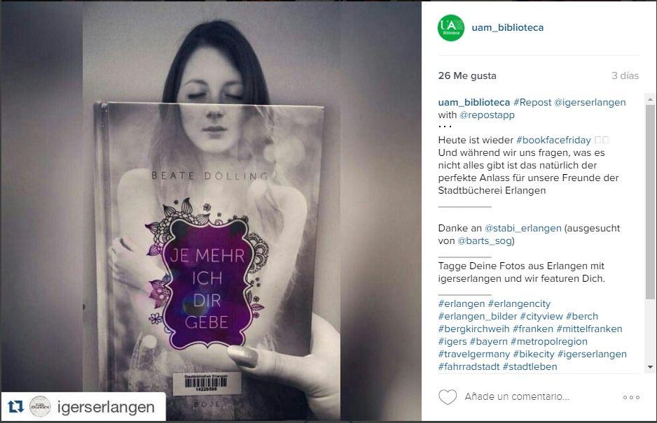Pin de UAM_Biblioteca en BookFaceFriday Instagram, Uam