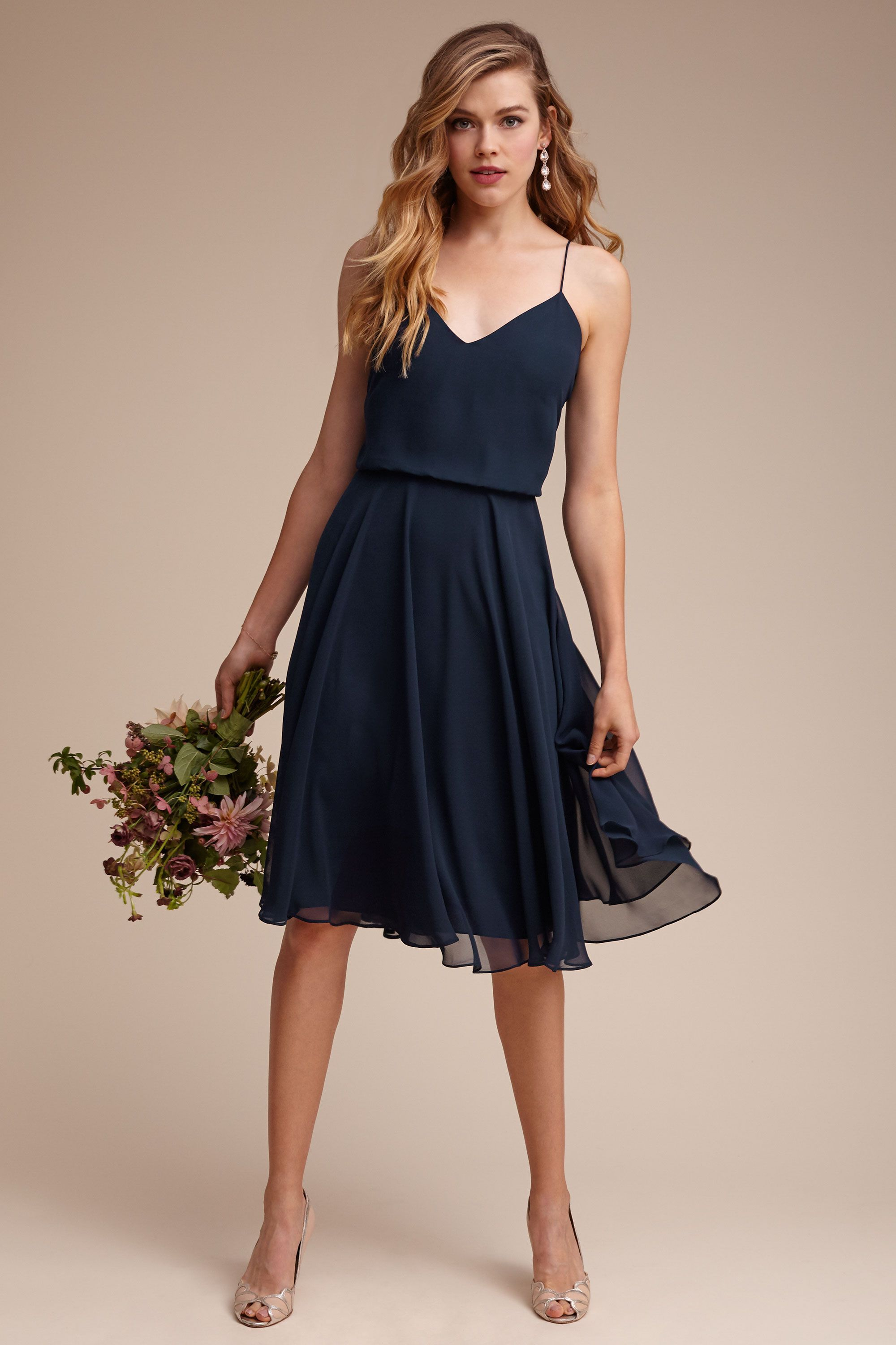 Navy Bridesmaid Dress With Delicate Straps And Short Length By Jenny Yoo Blue Bridesmaid Dresses Short Navy Blue Bridesmaid Dresses Short Bridesmaid Dresses [ 3000 x 2000 Pixel ]