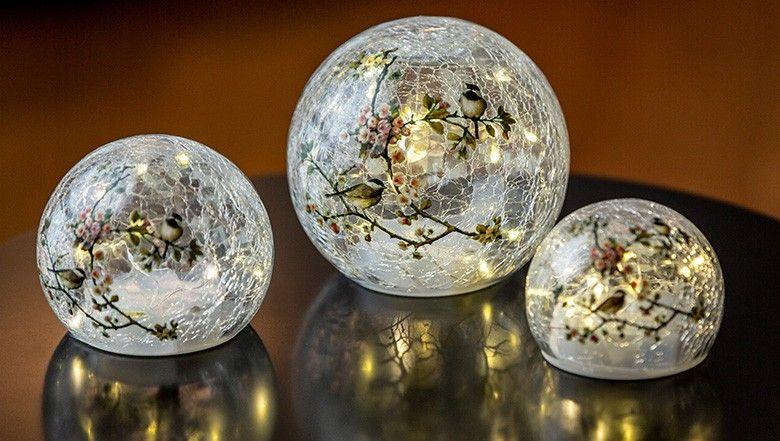 Led Glaskugel Set 3 Teilig Online Kaufen Glaskugel Led Kugel