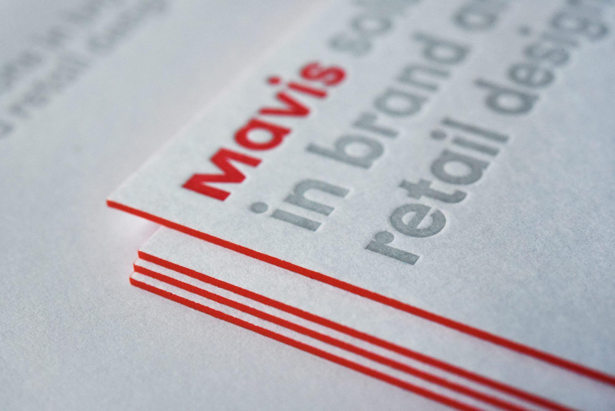 Druckprodukt Visitenkarten Verarbeitung Letterpress Und